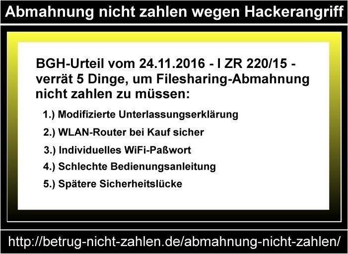 infografik abmahnung nicht zahlen wegen hackerangriff - Modifizierte Unterlassungserklarung Muster